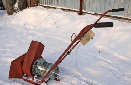электрический снегоуборщик своими руками